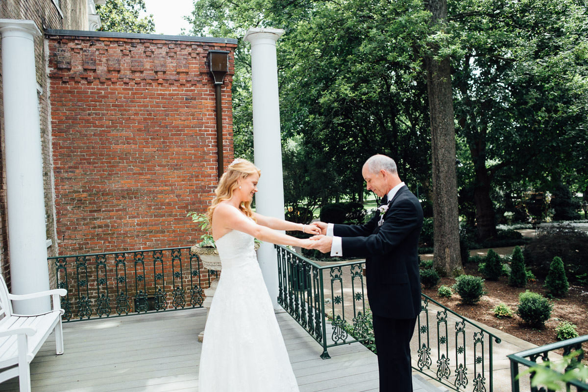 bride-seeing-father Riverwood Mansion Wedding | Ashley and Kirk | Nashville, TN
