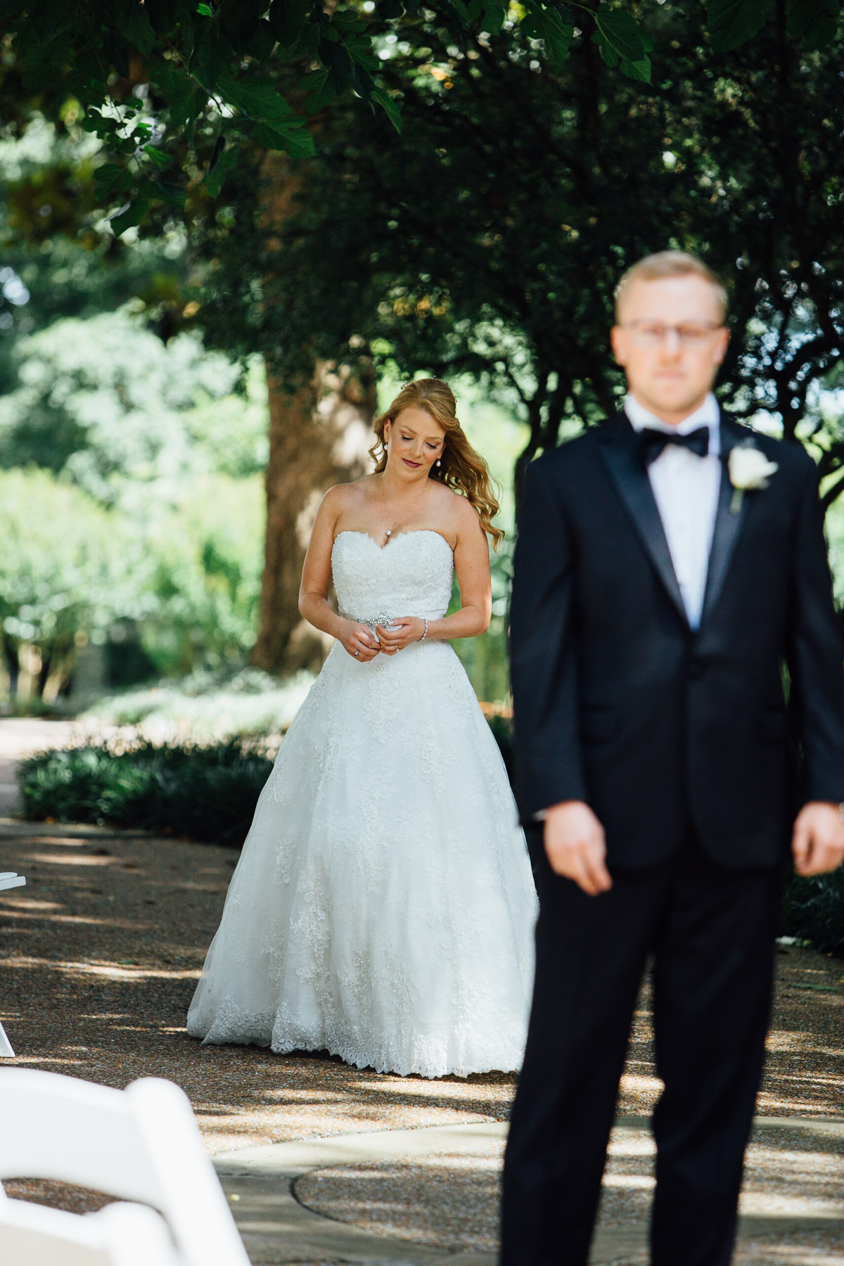 bride-walking-to-groom Riverwood Mansion Wedding | Ashley and Kirk | Nashville, TN