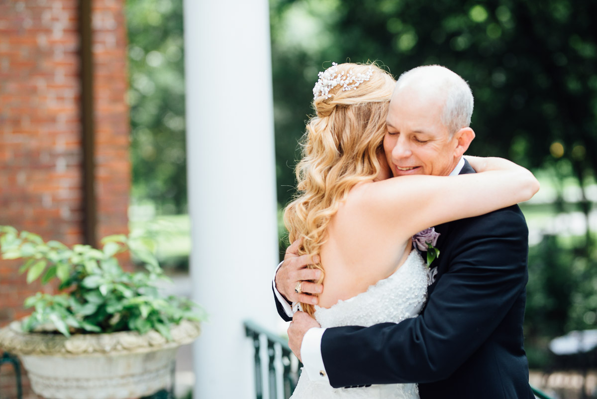 bride-with-dad Riverwood Mansion Wedding | Ashley and Kirk | Nashville, TN
