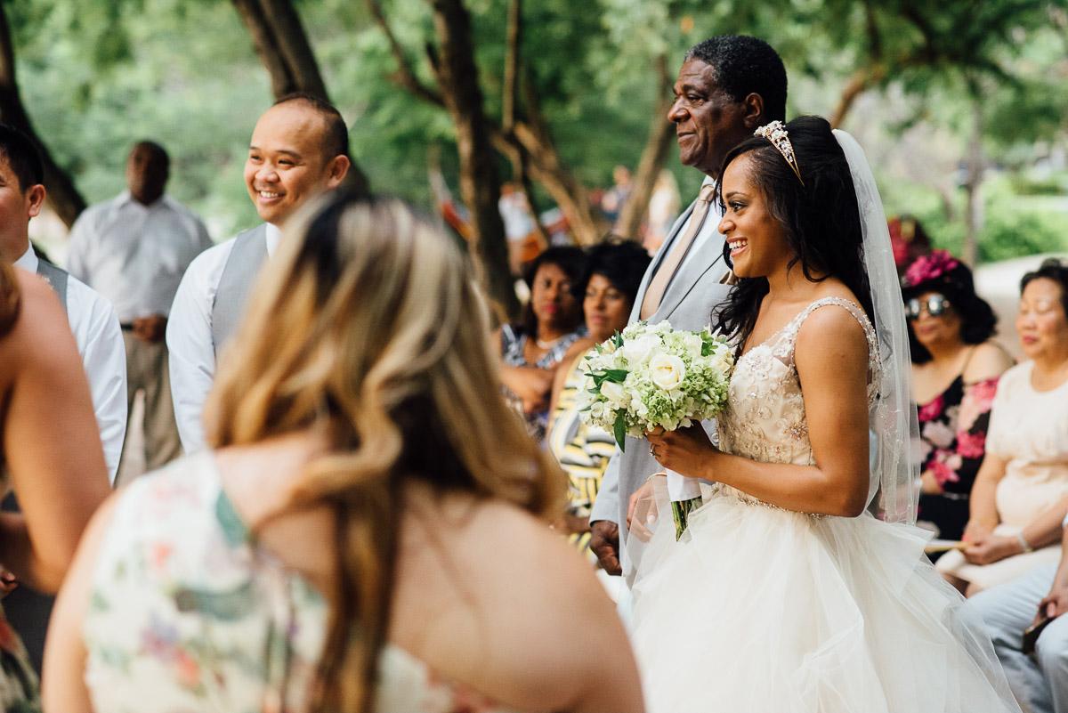 bride-with-father Costa Rica Destination Wedding