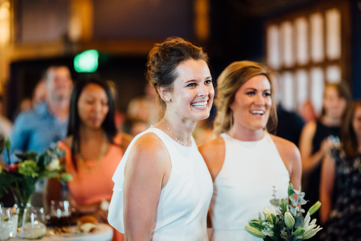 brides-toasts Becky and Kelly | Intimate Backyard Wedding