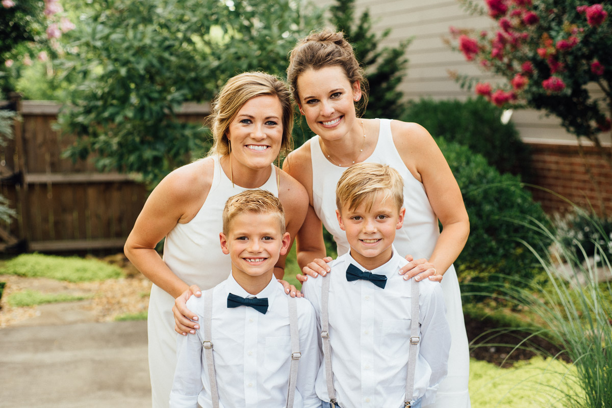 brides-with-bowties Becky and Kelly | Intimate Backyard Wedding