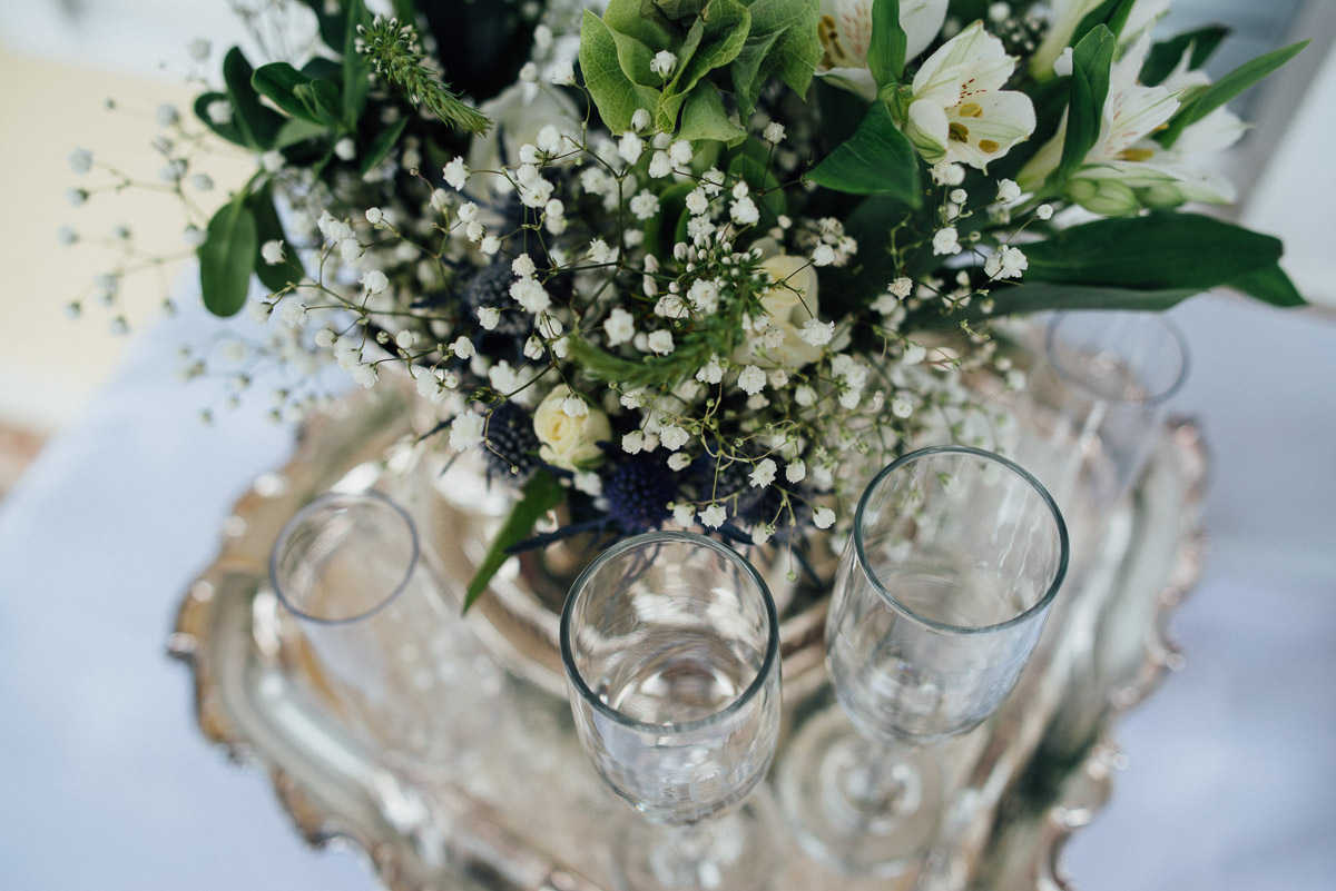 cute-champagne-glasses Becky and Kelly | Intimate Backyard Wedding