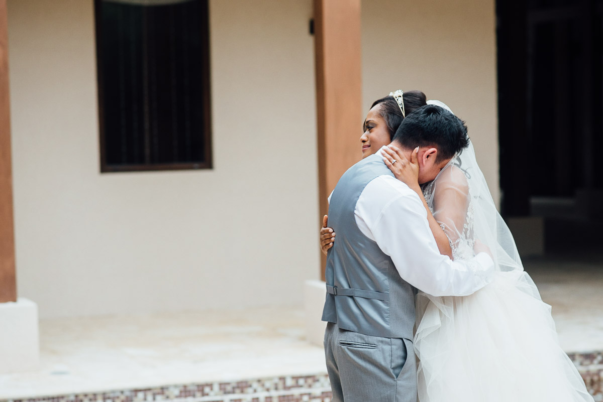 emotional-first-look-wedding Costa Rica Destination Wedding