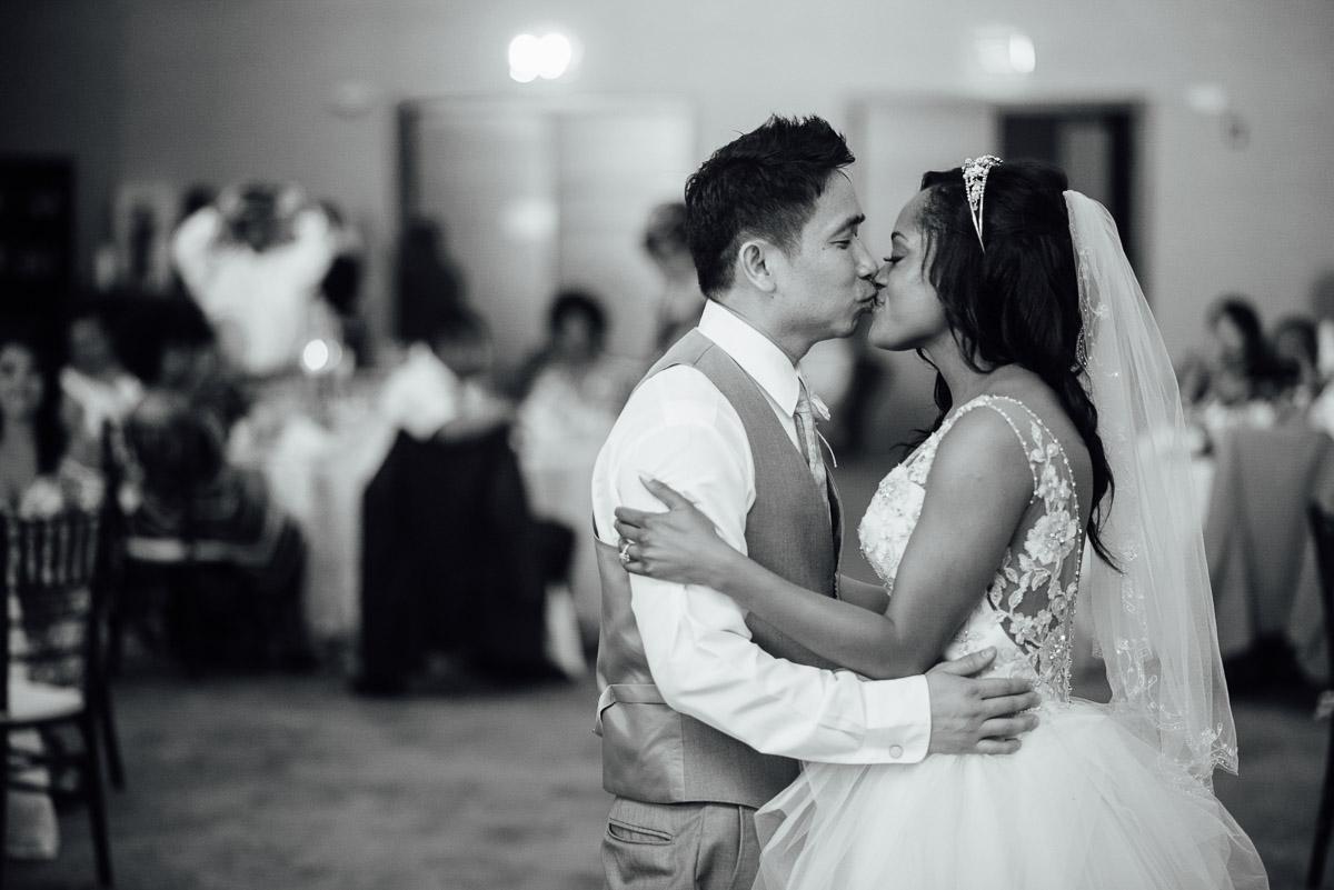 first-dance-kiss Costa Rica Destination Wedding