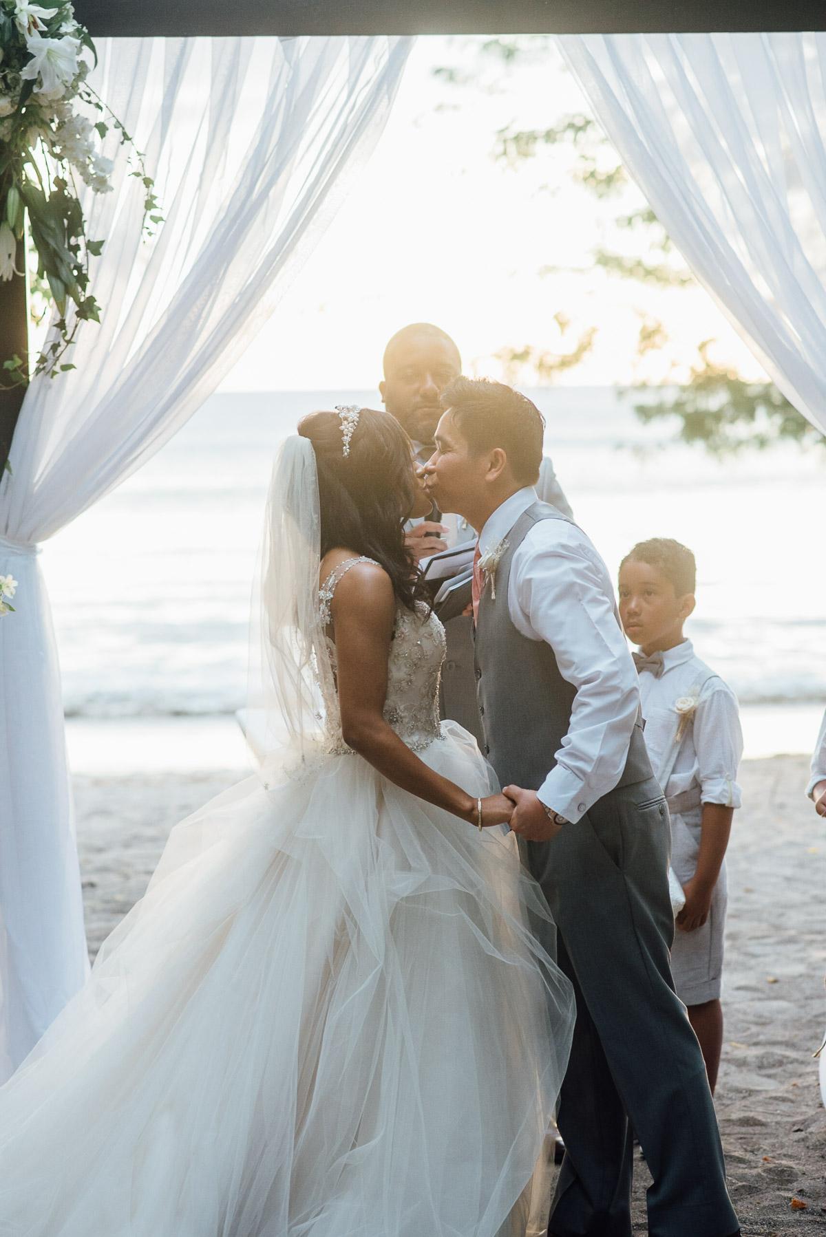 first-kiss Costa Rica Destination Wedding