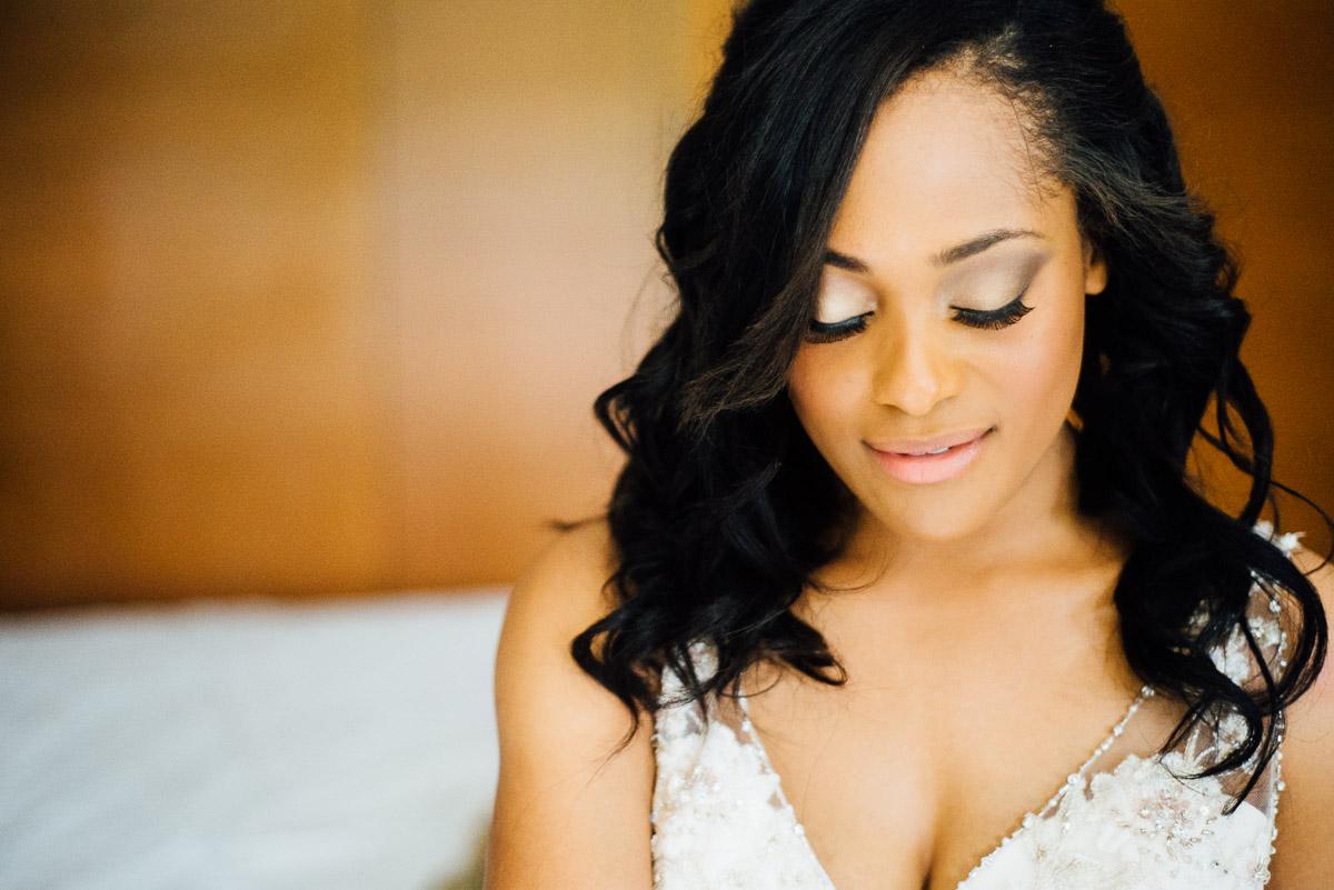 gorgeous-bride-makeup Costa Rica Destination Wedding