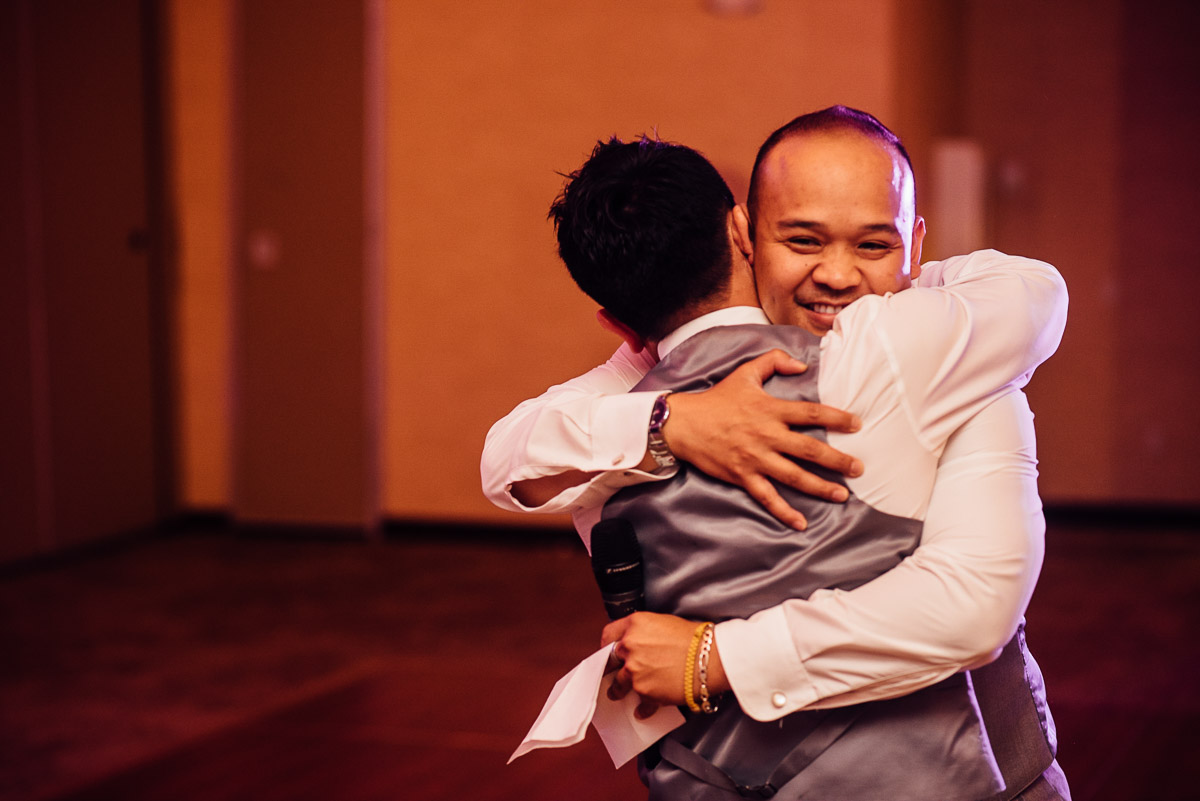 groom-bestman-hug Costa Rica Destination Wedding