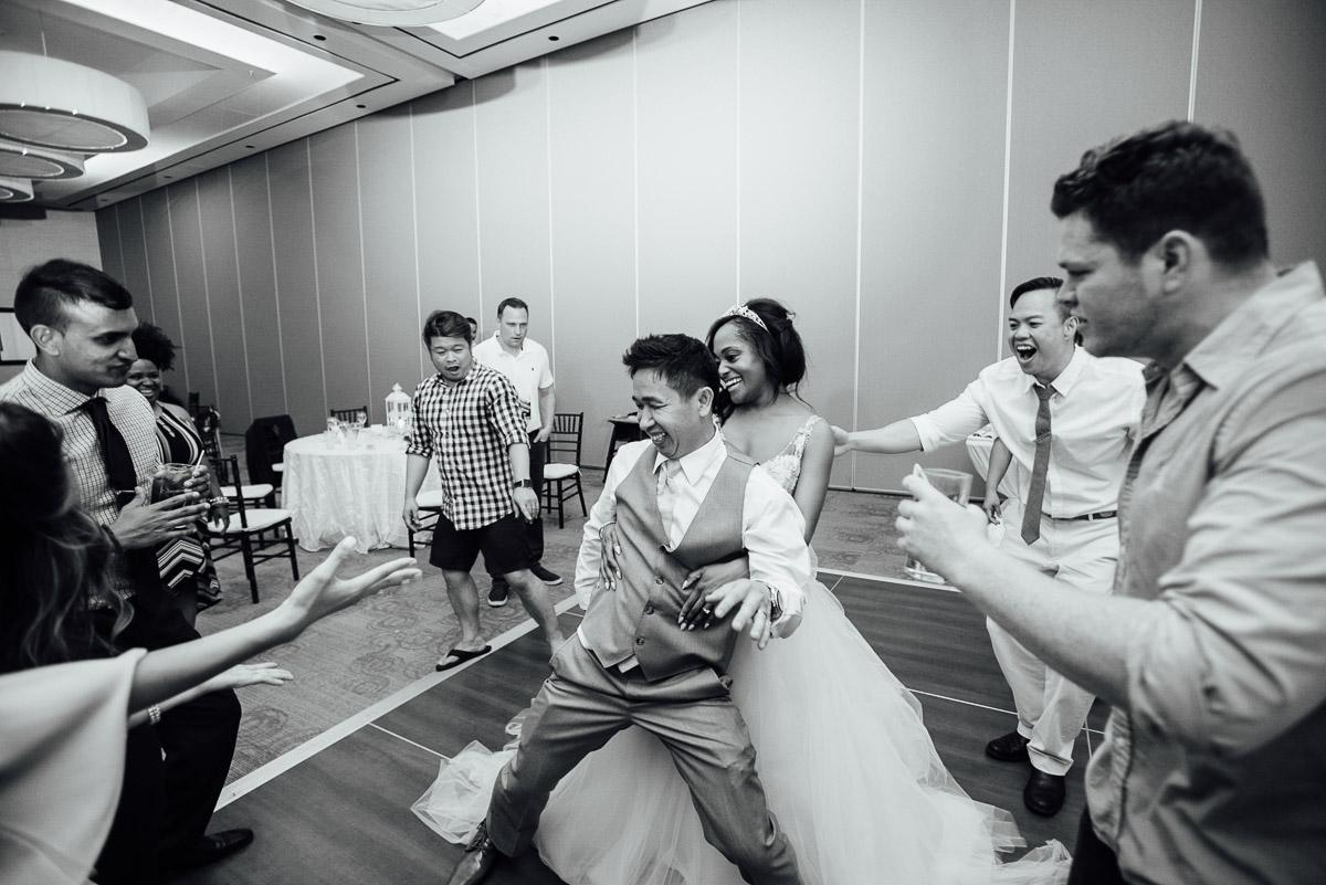 groom-bride-booty-dancing Costa Rica Destination Wedding