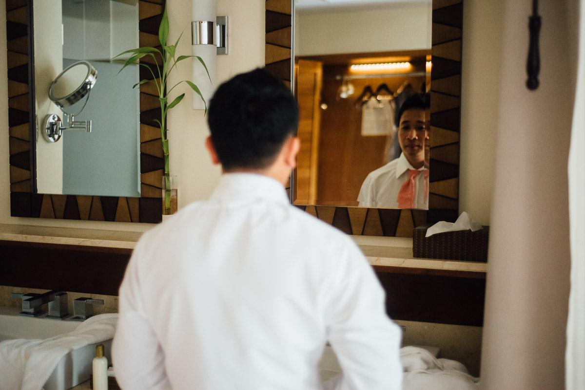 groom-mirror Costa Rica Destination Wedding
