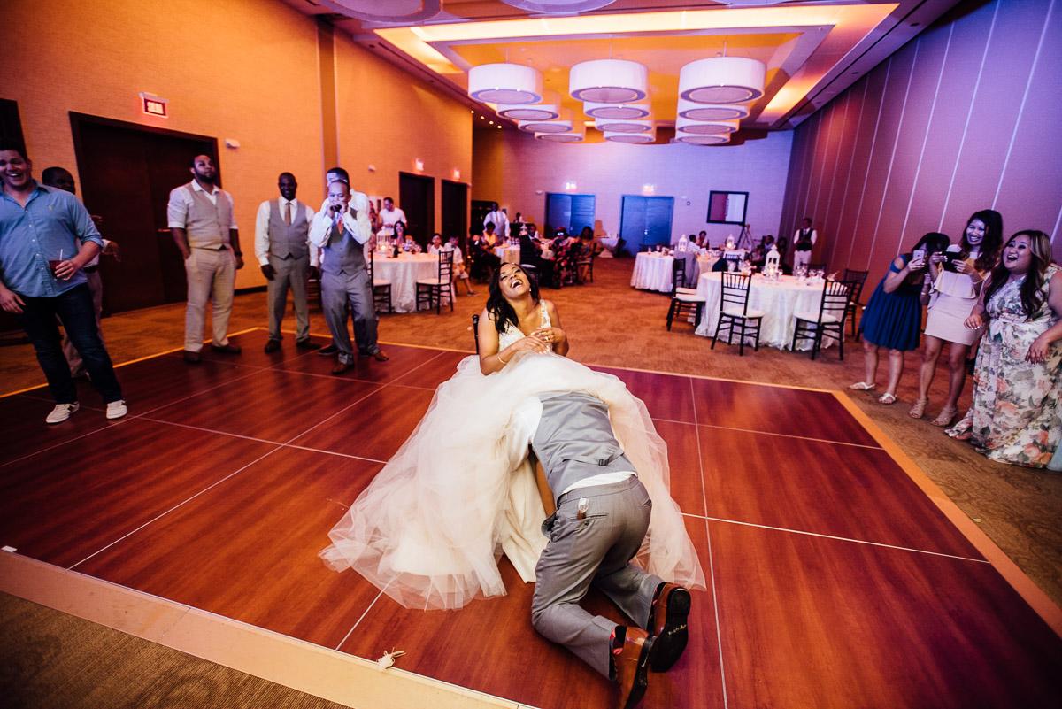 groom-under-dress Costa Rica Destination Wedding