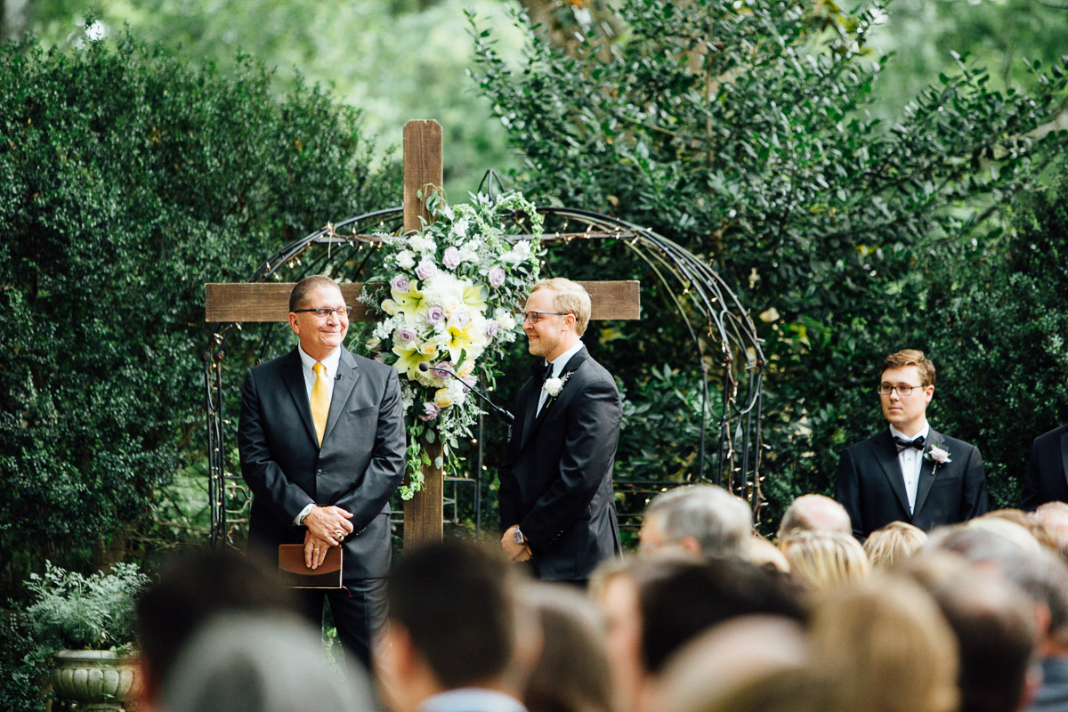 groom-waiting-for-bride Riverwood Mansion Wedding | Ashley and Kirk | Nashville, TN