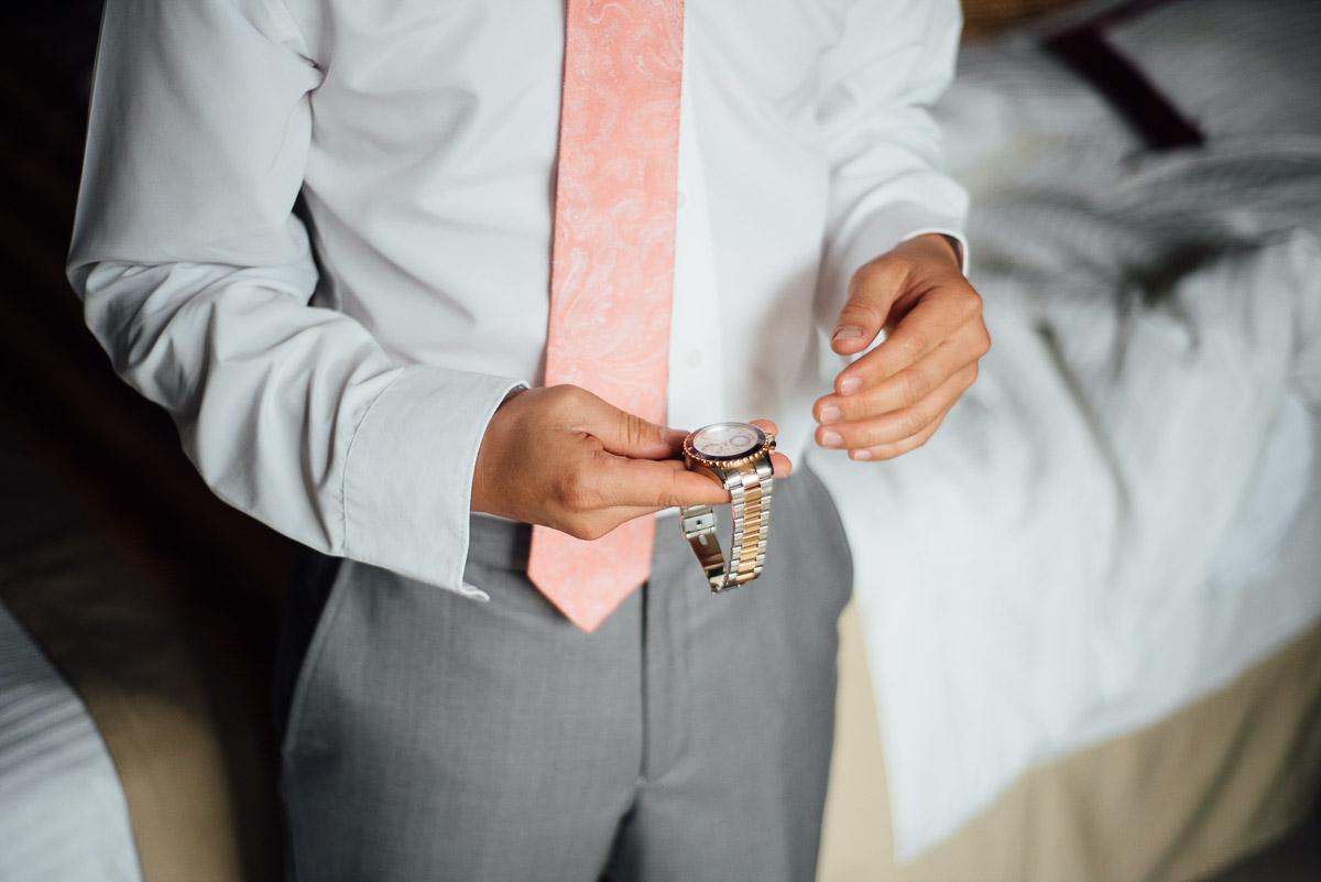 groom-watch-gift Costa Rica Destination Wedding