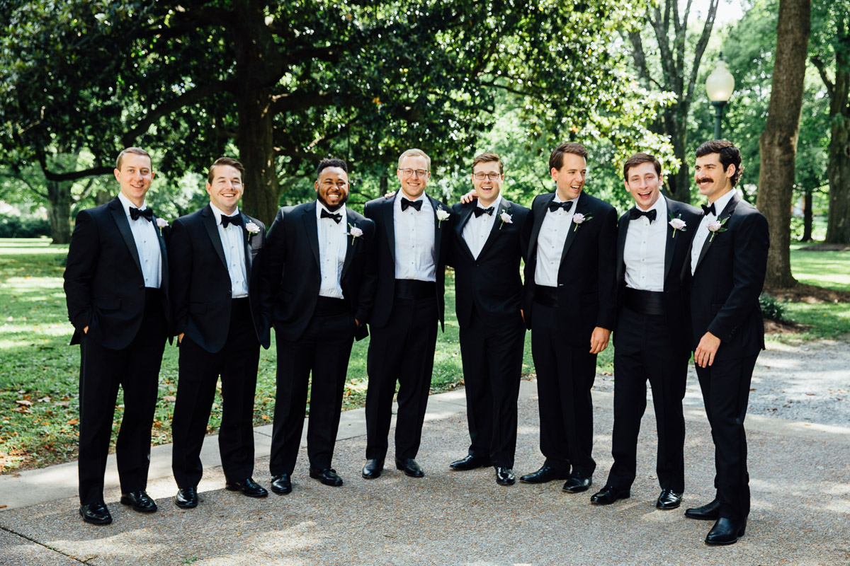 groom-with-groomsmen Riverwood Mansion Wedding | Ashley and Kirk | Nashville, TN