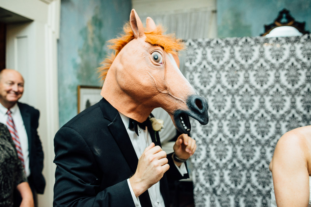 horse-mask-wedding Riverwood Mansion Wedding | Ashley and Kirk | Nashville, TN