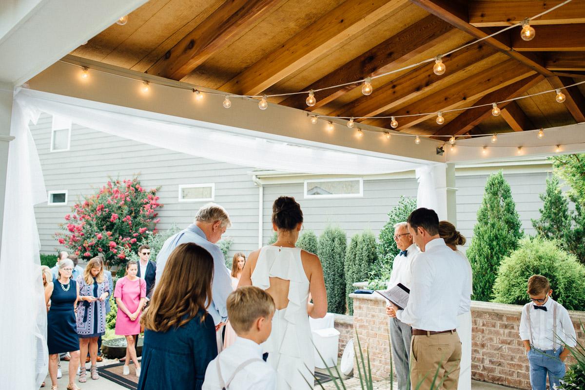 intimate-backyard-wedding Becky and Kelly | Intimate Backyard Wedding