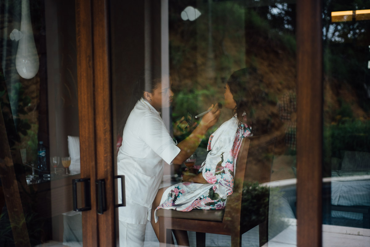 reflection-makeup Costa Rica Destination Wedding