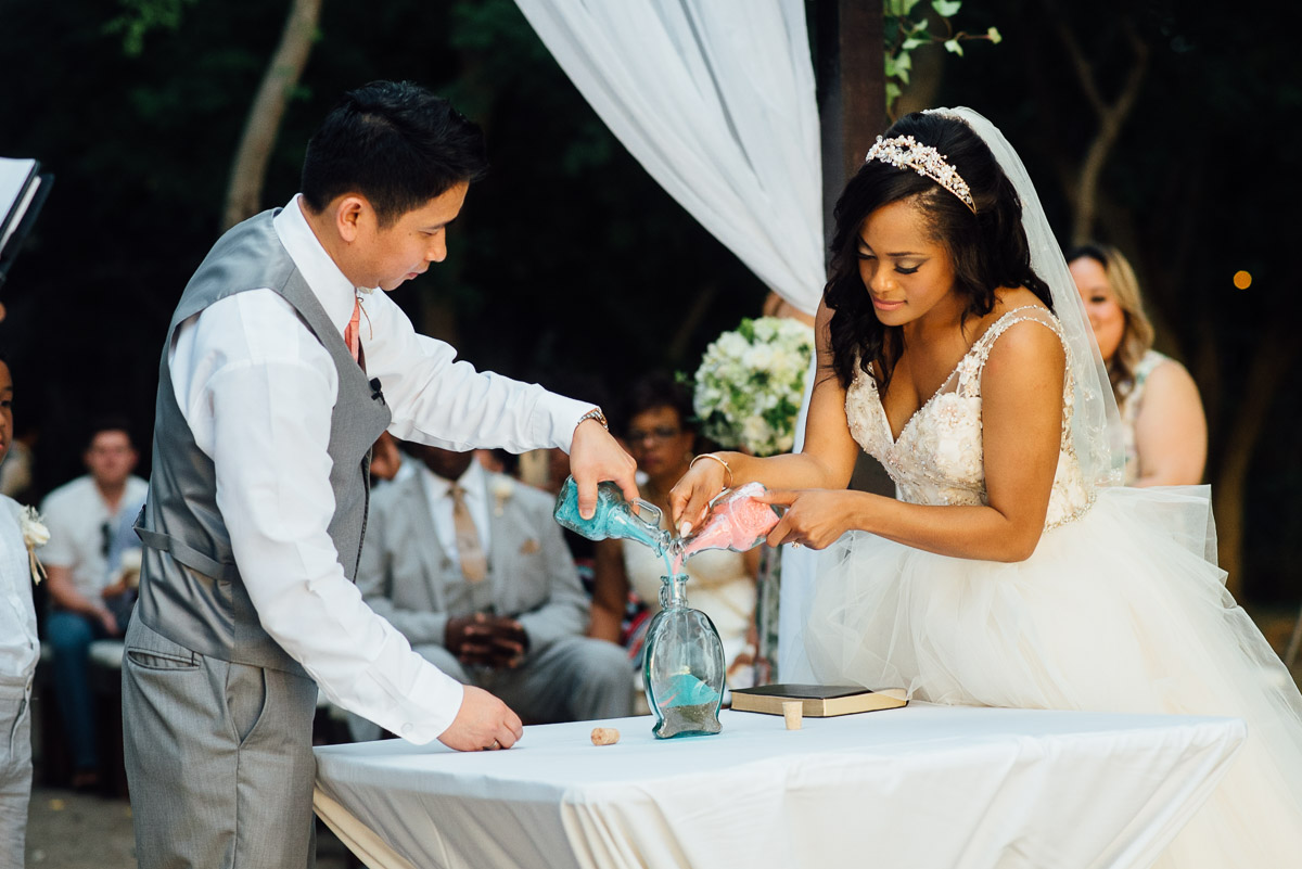 sand-ceremony- Costa Rica Destination Wedding