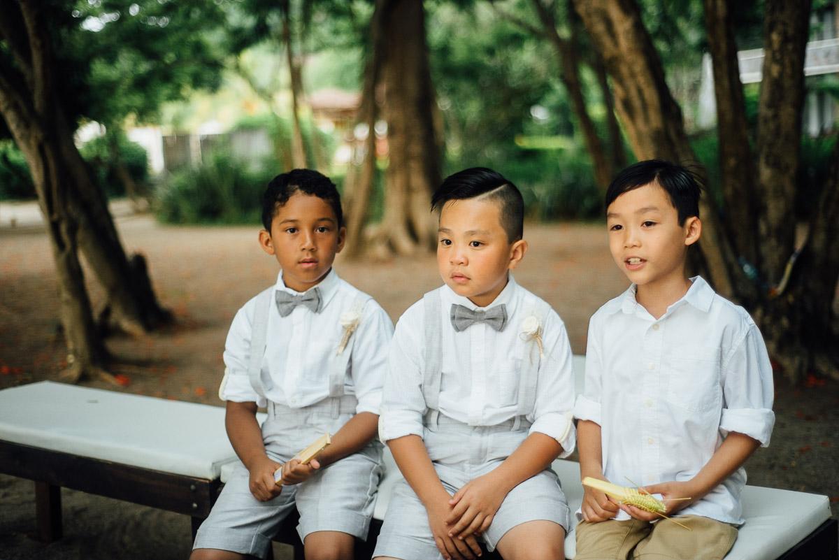 three-boys-on-bench Costa Rica Destination Wedding