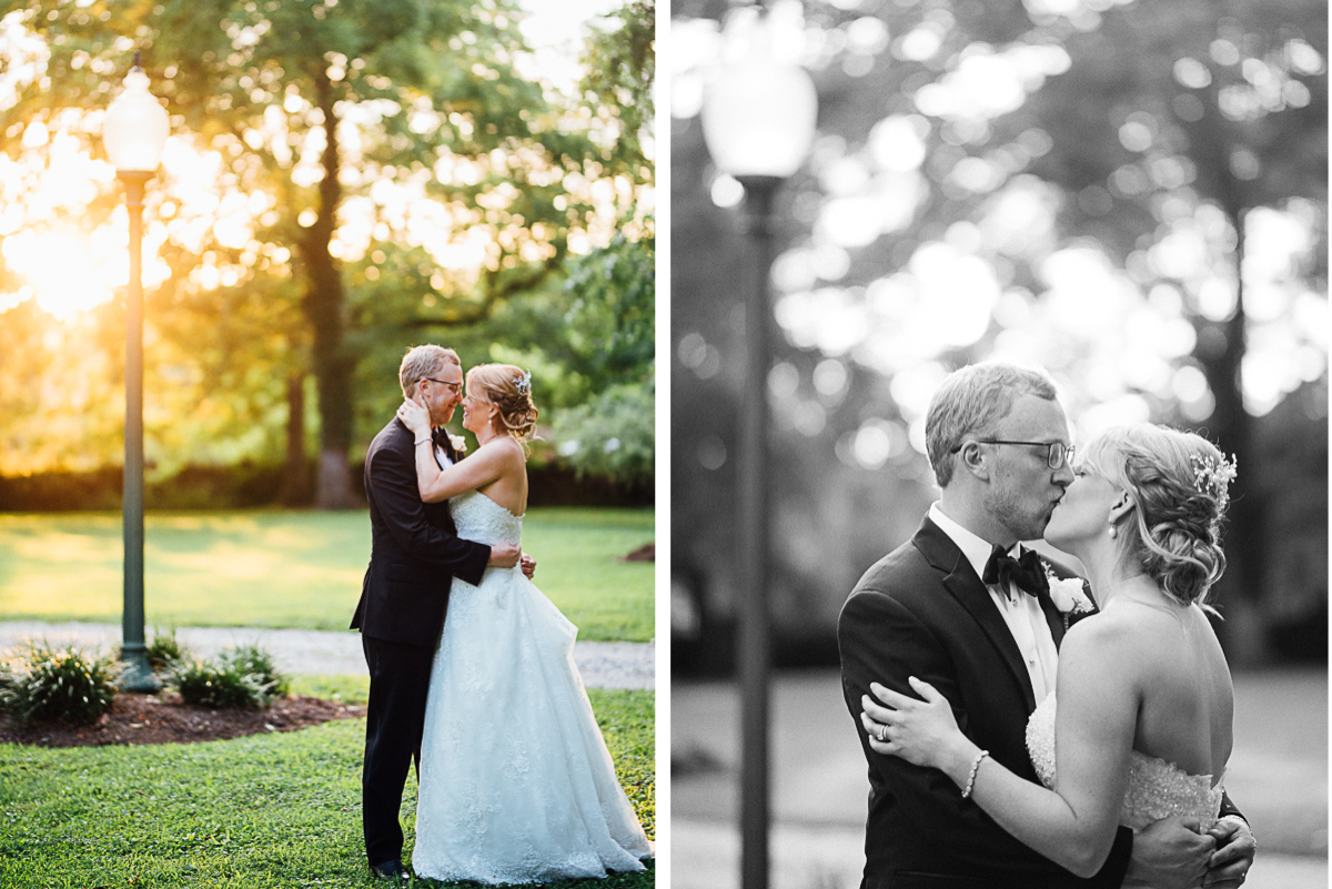 wedding-kiss-under-light Riverwood Mansion Wedding | Ashley and Kirk | Nashville, TN