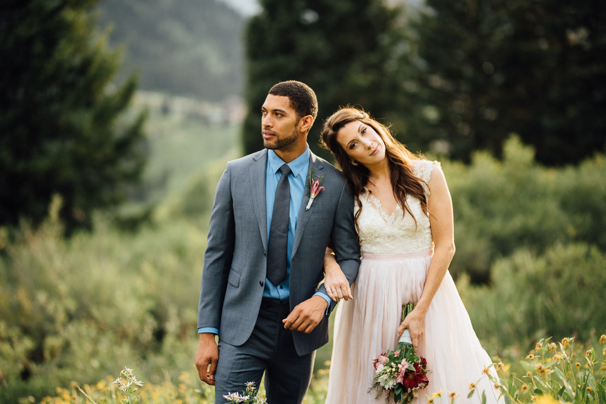 bride-head-on-shoulder Salt Lake City | Mountain Wedding Inspiration