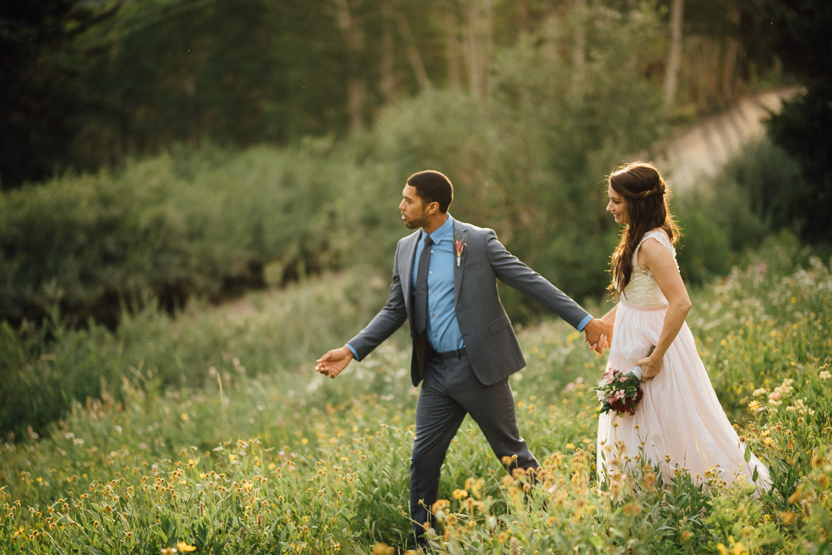 groom-leading-bride Salt Lake City | Mountain Wedding Inspiration
