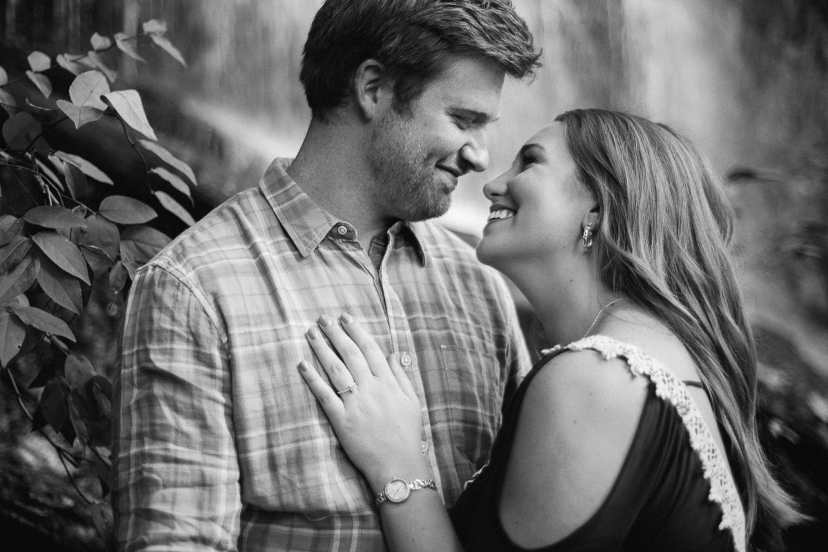 black-and-white-couple Rock Island State Park Engagement Photos