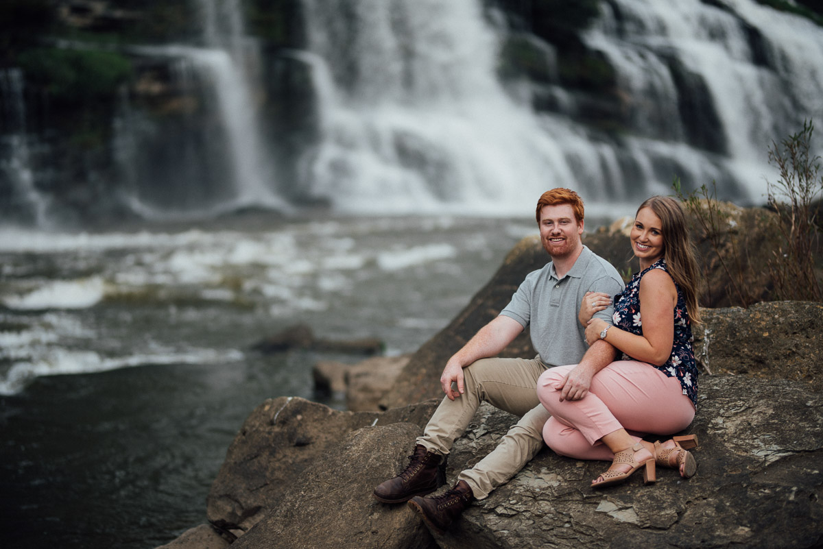 happy-engaged-couple Rock Island State Park Engagement Photos