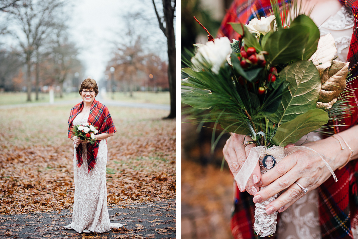 bridal-portrait-father-locket-1 Cozy Christmas Wedding | Oaklands Mansion - Murfreesboro, TN