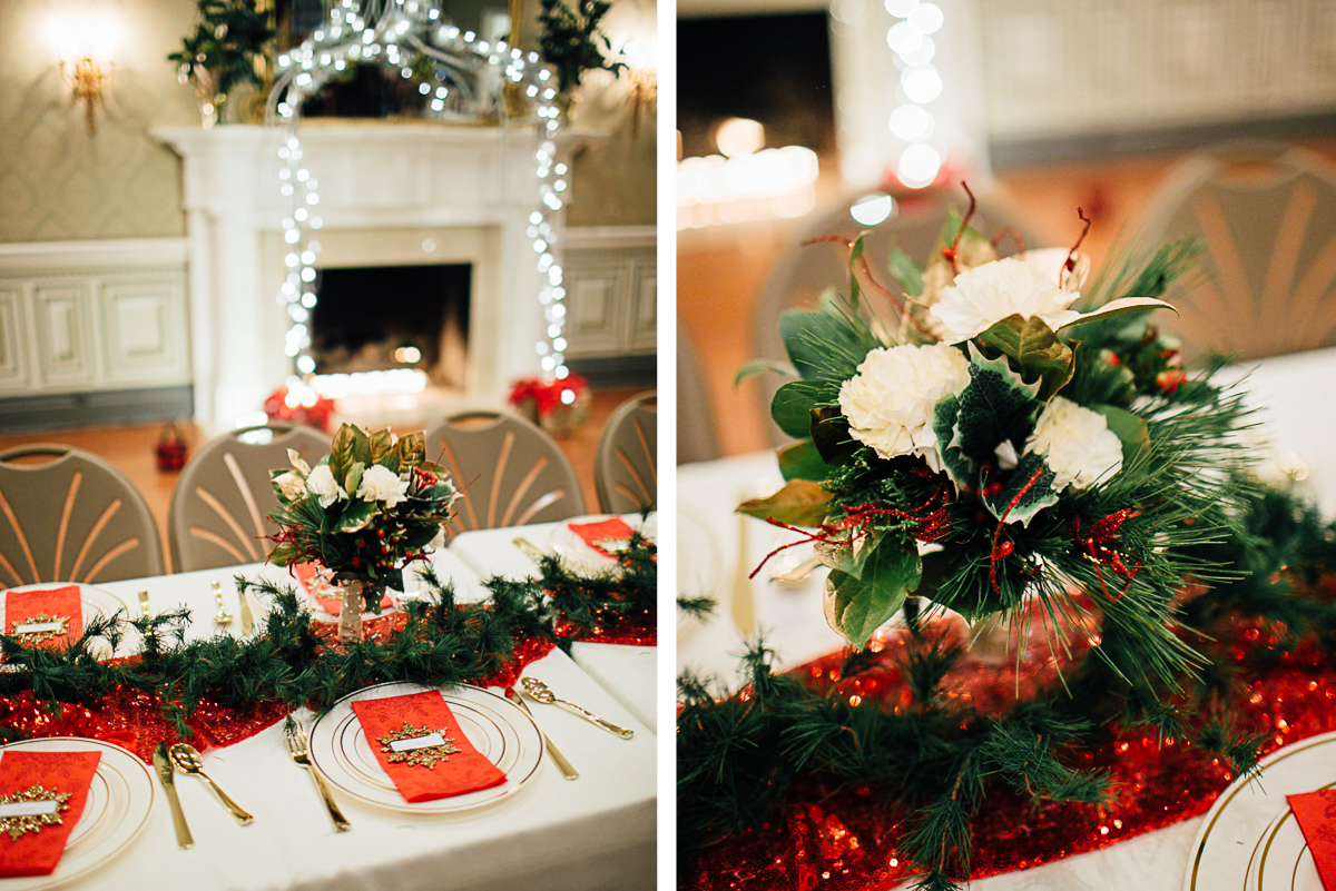 christmas-wedding-centerpieces-2 Cozy Christmas Wedding | Oaklands Mansion - Murfreesboro, TN