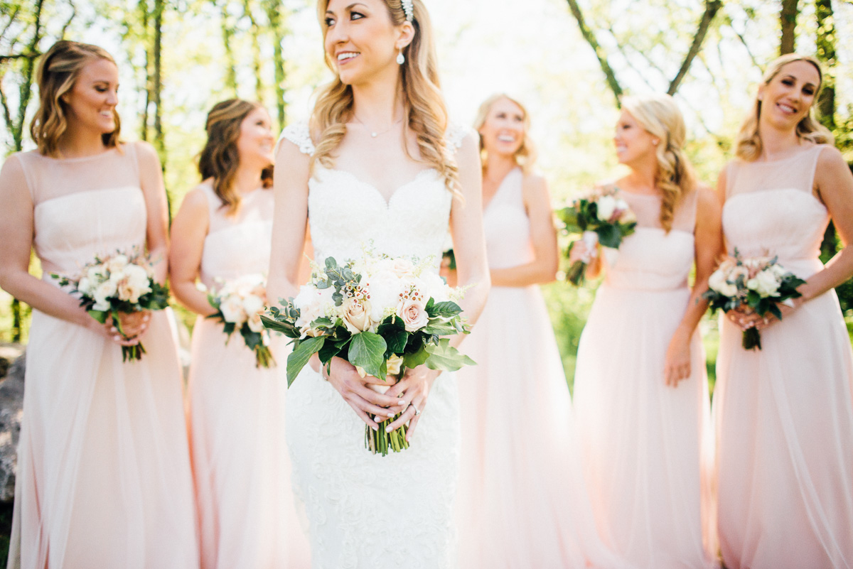 bride-bridesmaids-photo Graystone Quarry Wedding | Brad and Nicole