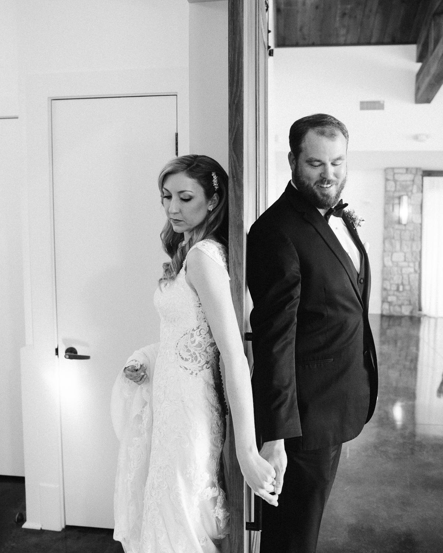 bride-groom-around-door Graystone Quarry Wedding   Brad and Nicole