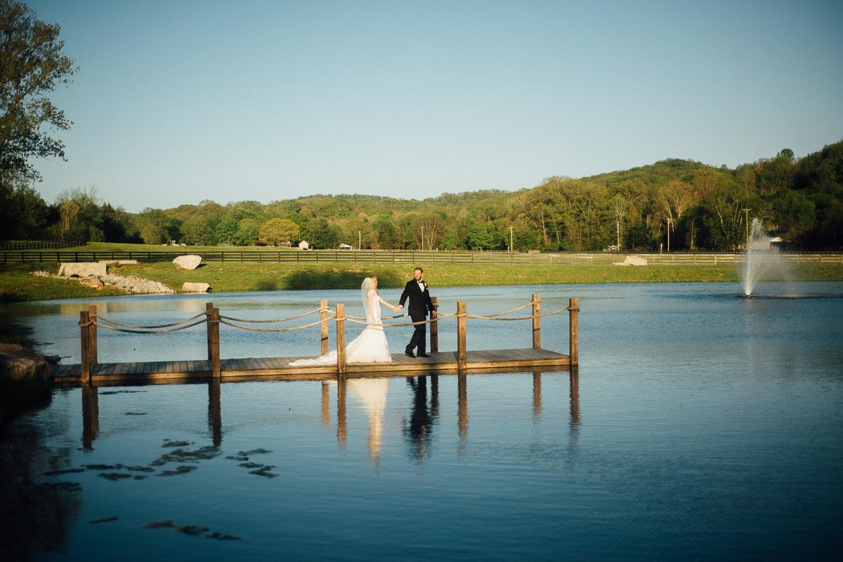 bride-groom-on-dock Graystone Quarry Wedding   Brad and Nicole