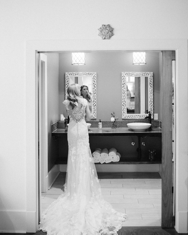 bride-in-mirror Graystone Quarry Wedding   Brad and Nicole