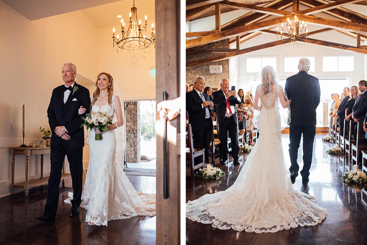 bride-walking-down-aisle Graystone Quarry Wedding   Brad and Nicole