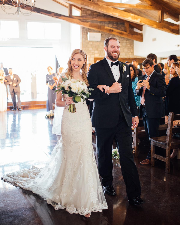 couple-walking-down-aisle Graystone Quarry Wedding   Brad and Nicole