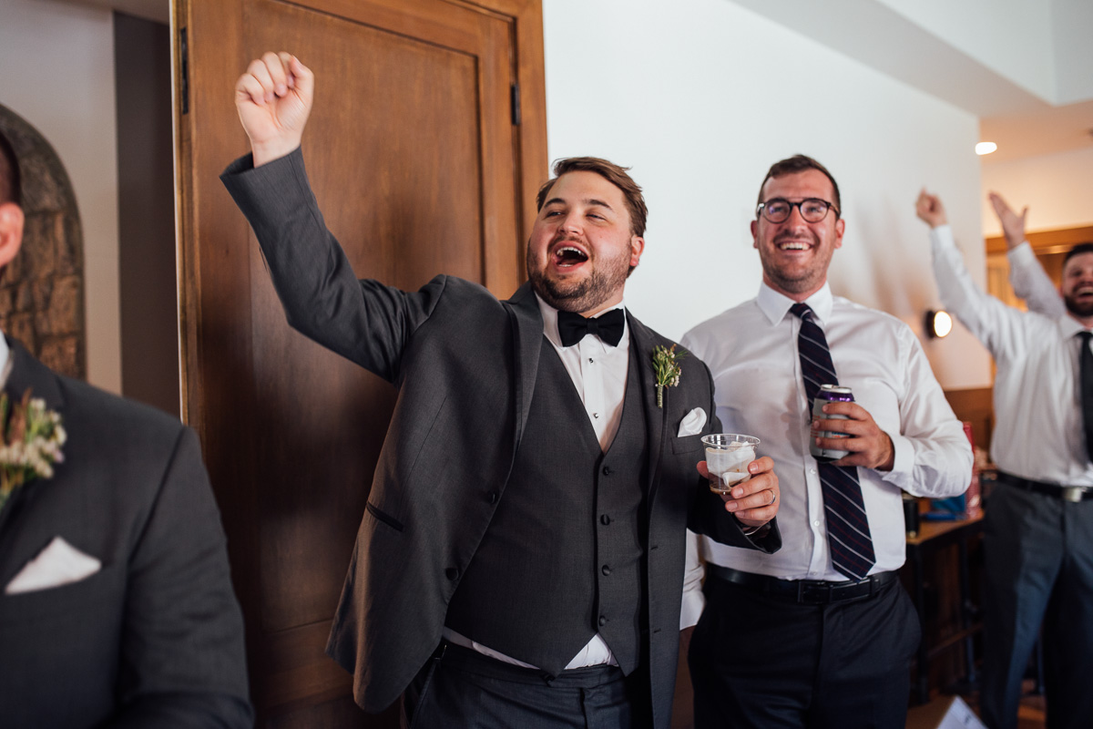 excited-groomsmen Graystone Quarry Wedding | Brad and Nicole