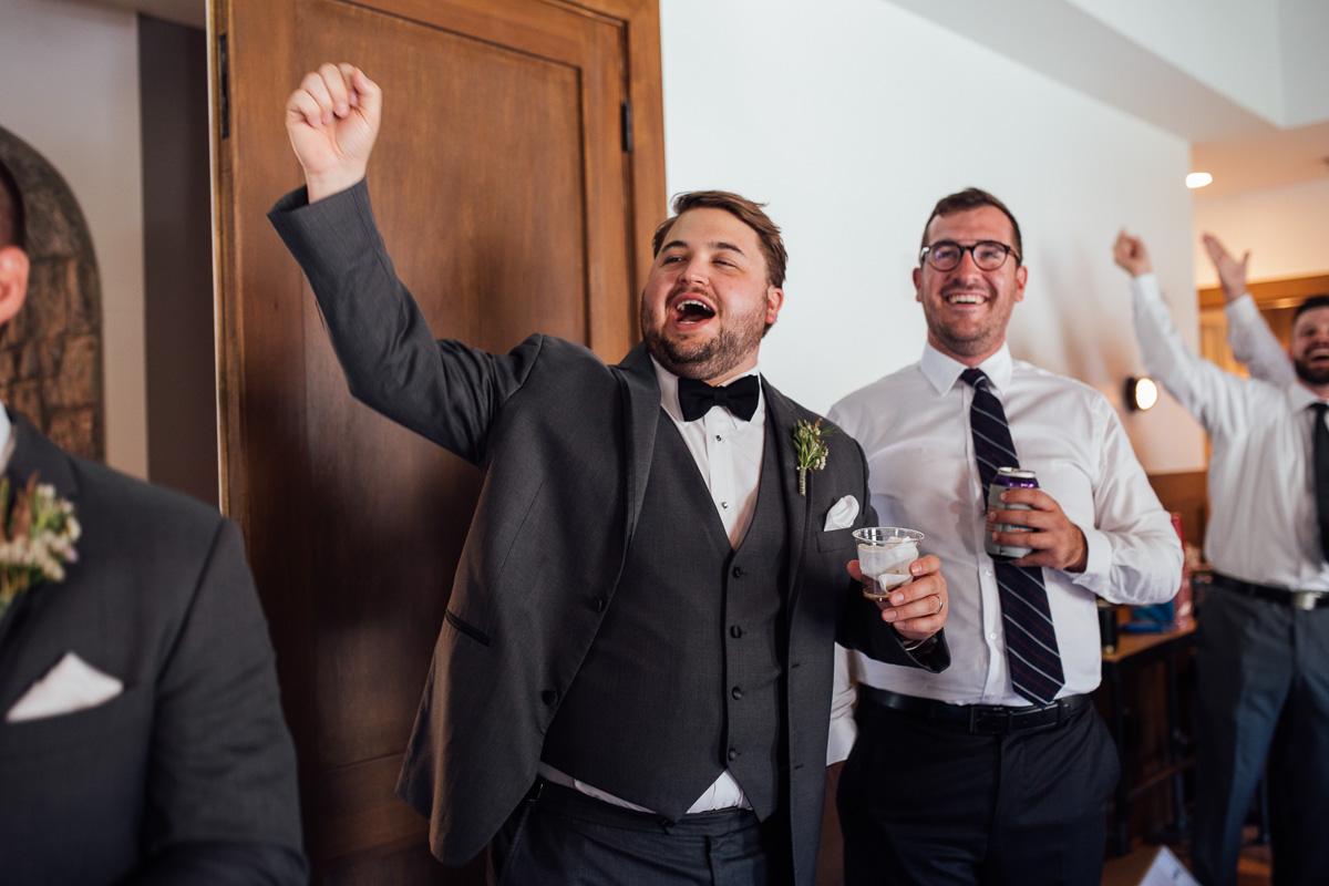 excited-groomsmen Graystone Quarry Wedding   Brad and Nicole