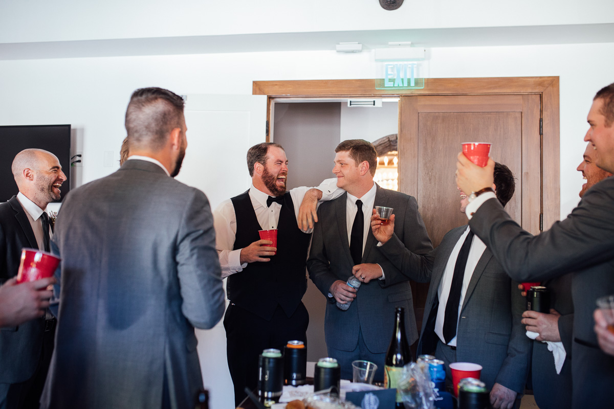groom-cheers Graystone Quarry Wedding | Brad and Nicole