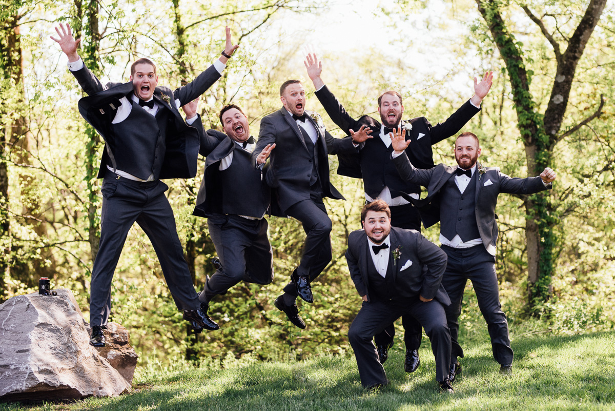 groom-jumping-pic Graystone Quarry Wedding | Brad and Nicole