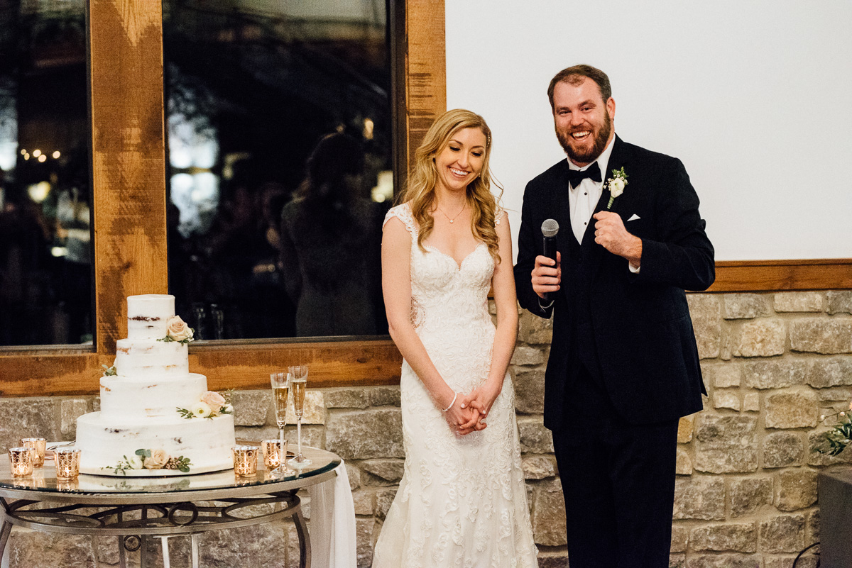 groom-toast Graystone Quarry Wedding   Brad and Nicole