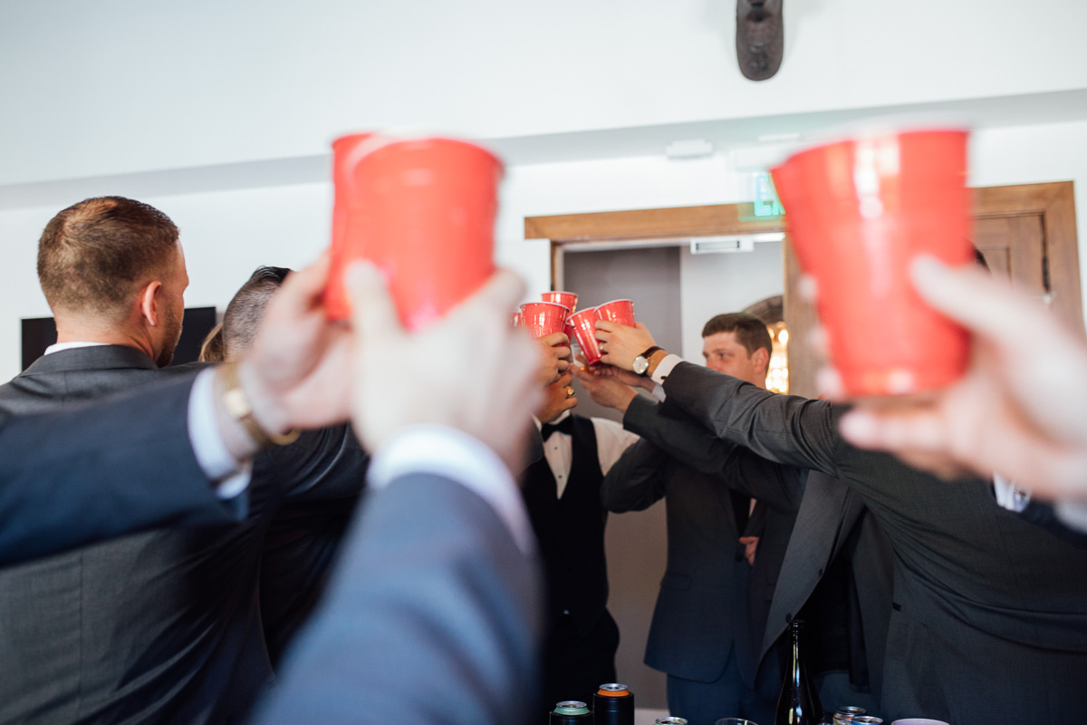 red-solo-cups Graystone Quarry Wedding   Brad and Nicole