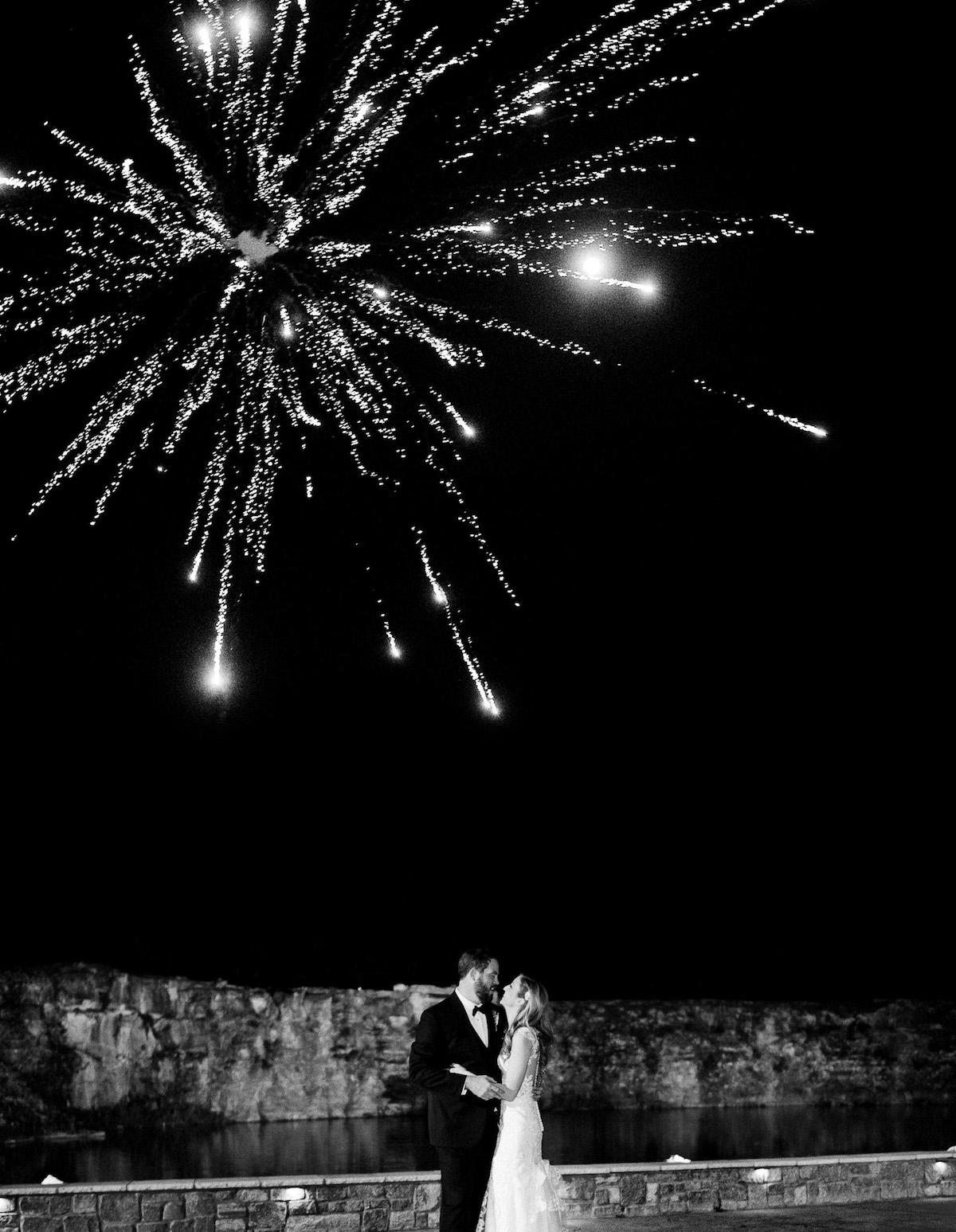 wedding-night-fireworks Graystone Quarry Wedding   Brad and Nicole