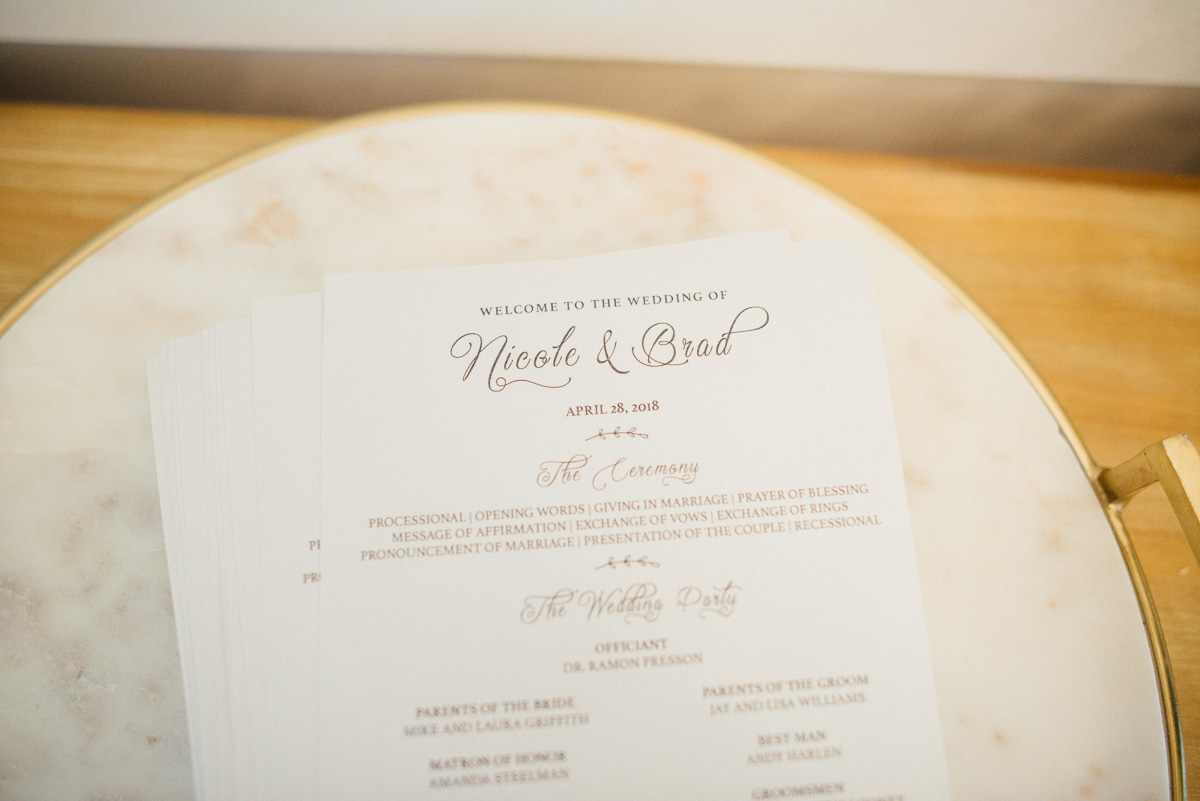 wedding-programs Graystone Quarry Wedding | Brad and Nicole