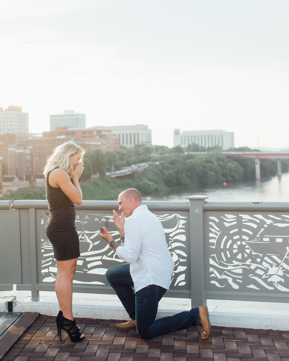 downtown-nashville-proposal-pedestrian-bridge Nashville Skyline Surprise Proposal
