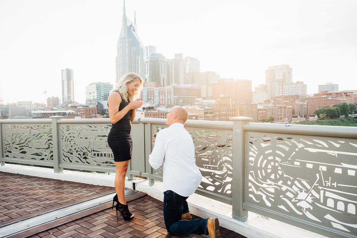 downtown-nashville-proposal-photography Nashville Skyline Surprise Proposal