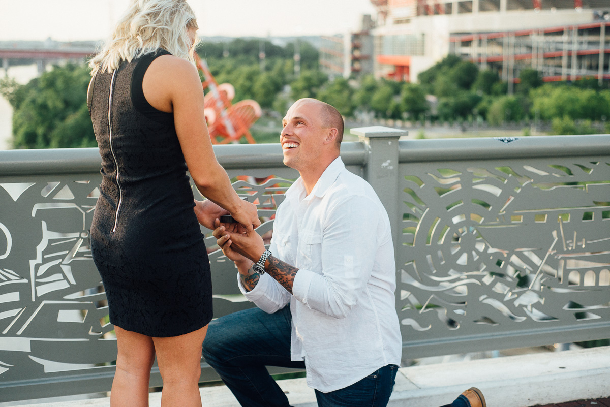 proposal-ring-one-knee Nashville Skyline Surprise Proposal