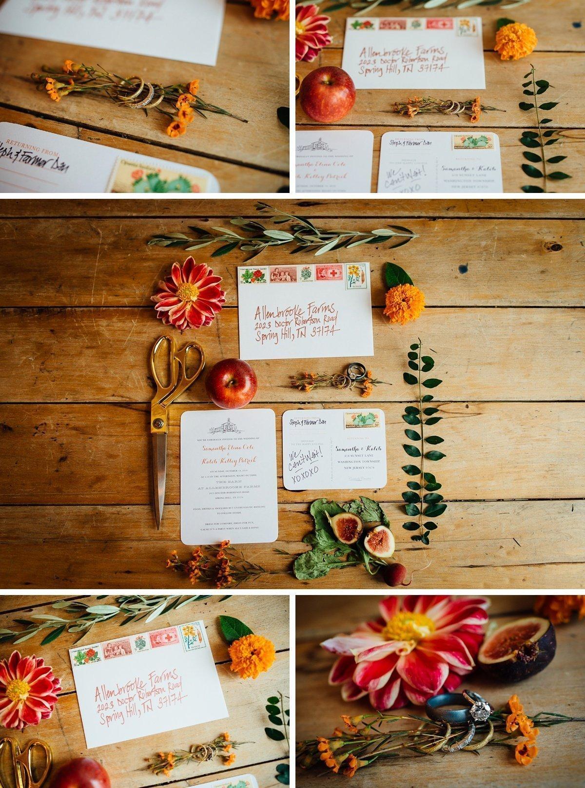 allenbrooke-wedding-details-flatlay Allenbrooke Farms | Spring Hill TN Wedding | Sam and Kaleb