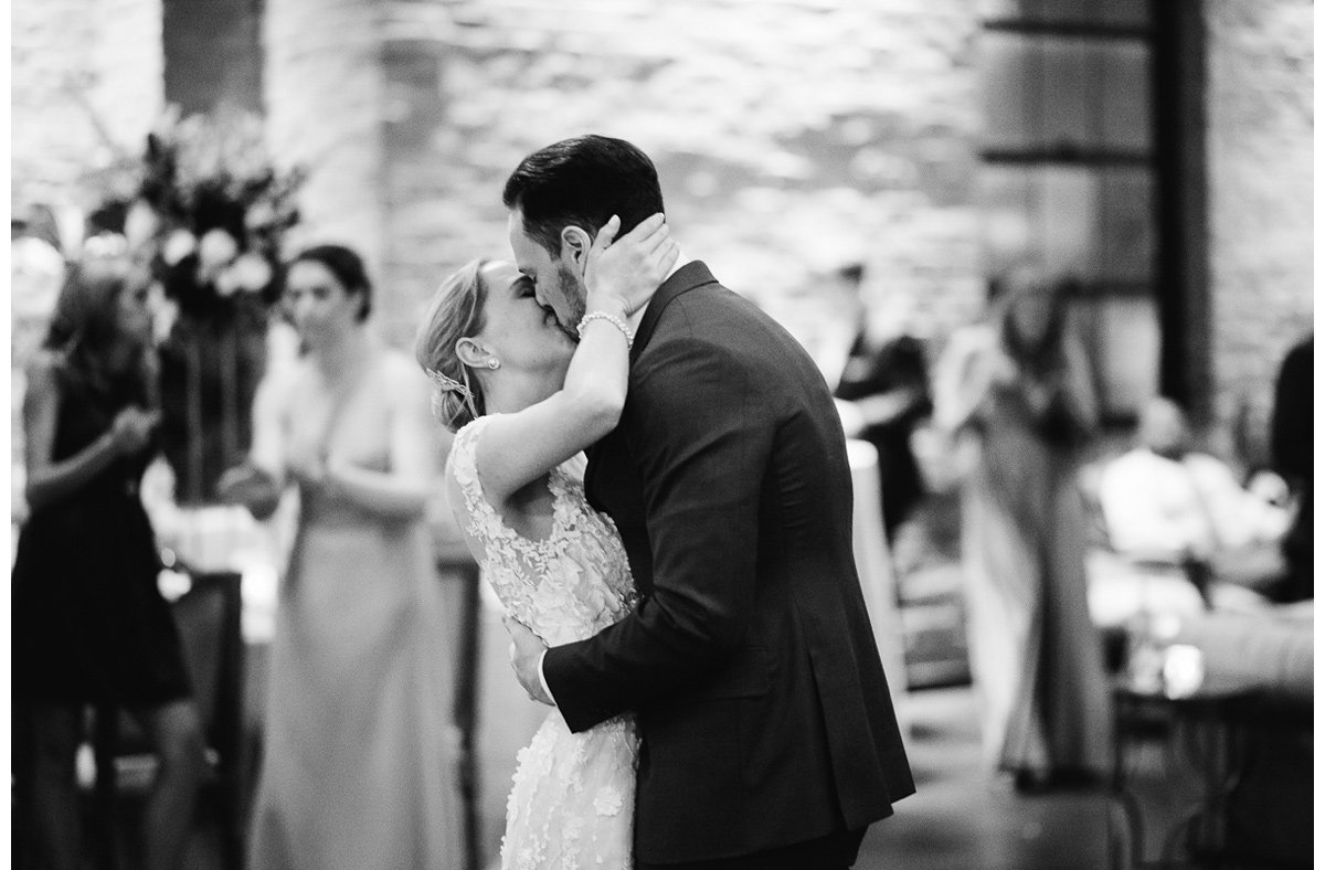black-and-white-kiss-4 Clementine Hall   Nashville Wedding   Rachel and Bobby