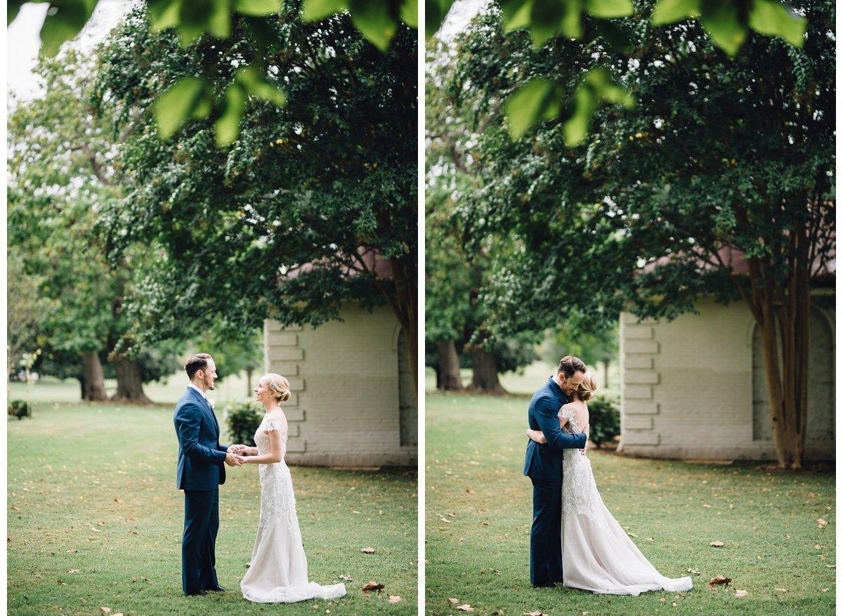 bride-groom-firstlook-3 Clementine Hall   Nashville Wedding   Rachel and Bobby